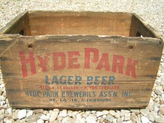 Old Hyde Park Wooden Beer Crate Lager Wood Box