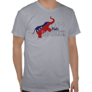 Vote Republican 2012  Vintage Design T Shirts