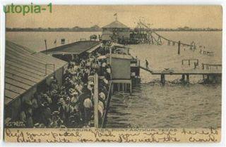Port Arthur Texas Pleasure Pier Postcard 1907