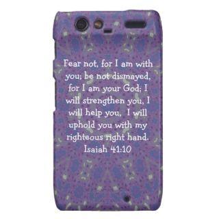 Bible Verses Inspirational Quote Isaiah 41:10 Motorola Droid RAZR