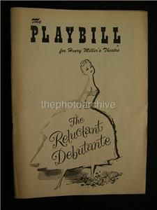 1956 Wilfrid Hyde White The Reluctant Debutante Signed Theatre