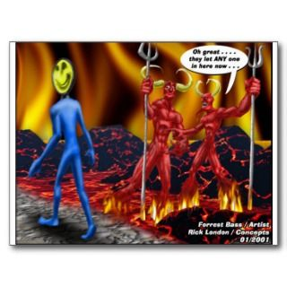 Hell Hath No Vacancies Funny Gifts Tees Mugs Etc Post Cards