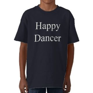 Bailarín feliz (texto blanco) t shirts de
