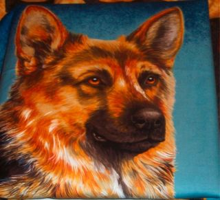 German Shepherd Dog Handmade Fabric Throw Pillows