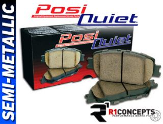 Front Rear Set Posi Quiet Semi Metallic Disc Brake Pads