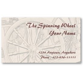 Antique Spinning Wheel Arts Crafts Business Card profilecard