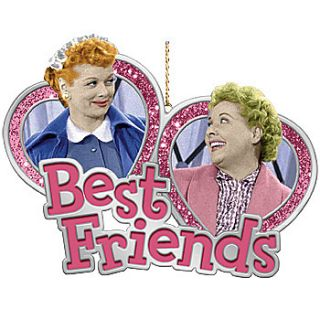 New I Love Lucy Christmas Ornament Lucy and Ethel Best Friends Classic