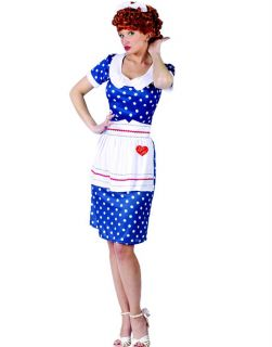 Blue Sassy I Love Lucy Lucille Ball TV Show Sexy Womens Party Costume