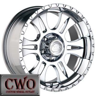 16 Chrome ion 195 Wheels Rims 5x127 5 Lug Jeep Wrangler Cherokee C1500