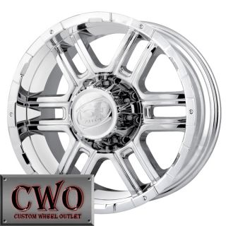 20 Chrome ion 179 Wheels Rims 8x165 1 8 GMC Chevy 2500 HD Dodge RAM
