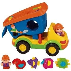 Iplay Super Shapes Dump Truck Preschool Sorting Toy New