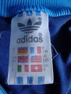 Adidas 1st Original 80s Vintage Tracksuit Top Ian Brown