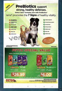 2009 Iams Cat Dog Food Ad Print Art Prebiotics