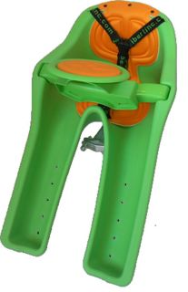 Ibert Bicycle Baby Seat with Padded Steering Wheel and Extended Legs