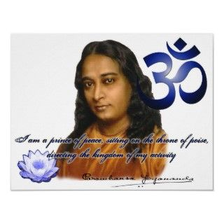 Om Aum Symbol Paramahansa Yogananda Quote Color Posters