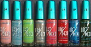 12 La Colors Nail Art Deco Lacquer Polish Pick 12 Colors