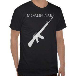 MOLON LABE (White Graphics) Tee Shirts