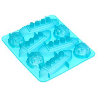 Ice Cube Tray Mold Silicone Titanic Shaped New Random Color E753
