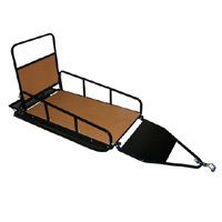 Behind Folding Utility Sled for Ice Fishing or Hauling Supplies