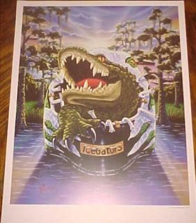 Louisiana Ice Gators Hockey Poster Art Goalie Mask