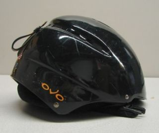 OVO Junior Snow Ski Snowboard Helmet Black XS