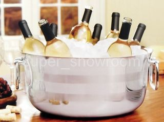 Steel Beverage Tub Double Wall Ice Bucket Wine Beer Cooler