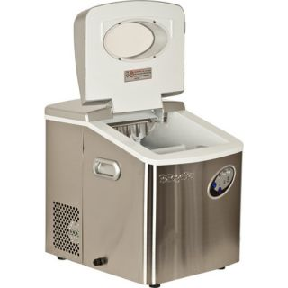 Stainless Steel Ice Maker Compact Countertop Ice Cube Machine