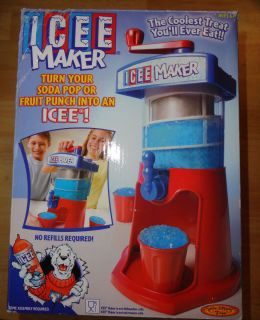 Spin Master Toys Icee Maker Slushie Snow Cone Machine with Hand Crank