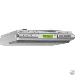 Sony Under Cabinet Kitchen CD Clock Radio ICF CDK50