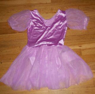 Girls Dance Leotard Ice Skating Princess Dress w skirt Costume SM 8 10