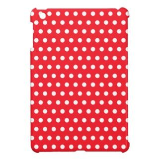 Red and White Polka Dot Pattern. Spotty. iPad Mini Case