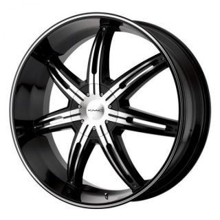 26 inch KMC Black Wheels Rims 6x135 F150 Expedition Navigator 6 Lug