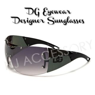 DG Designer Oversized Black Frame Womens Shades Metal w Free Cleaning