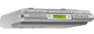 Sony ICF CDK50 Under Counter Kitchen Clock Radio CD FM