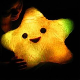 Luck Star Face LED Light Flashing Pillow Cushion Gifts
