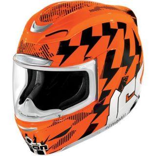 Icon Airmada Stack Helmet Med Hi Viz Orange