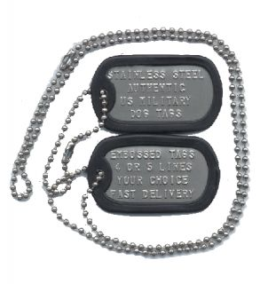 US military DOG TAGS Stamped soldier ID tag official dogtag custom