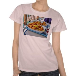Fried Fish French Fries The Fishette On Harbo T shirt