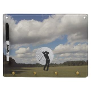 Customizable Golfing Dry Erase Board