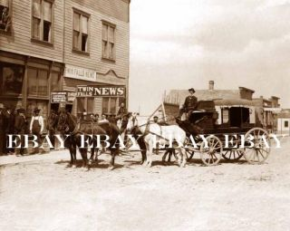 STAGE COACH IN OLD TWIN FALLS IDAHO ID NEWSPAPER OFFICE STREET PHOTO