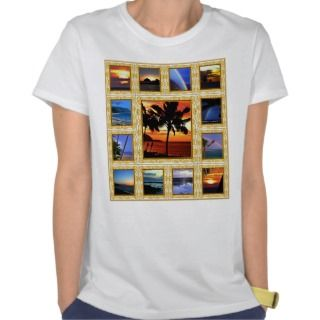 Hawaiian Scenes Ladies Tops T Shirts
