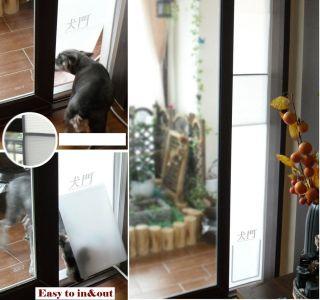 NEW PET DOG CAT DOOR IDEAL FAST FIT PATIO PET FOLDING Medium