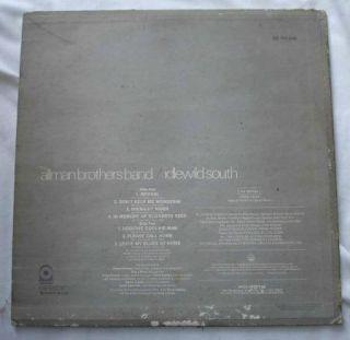 Allman Brothers Band Idlewild South Album 33 RPM Vinyl Record