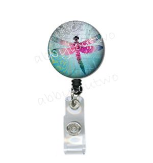 Retractable ID Badge Holder Reel Dragonfly