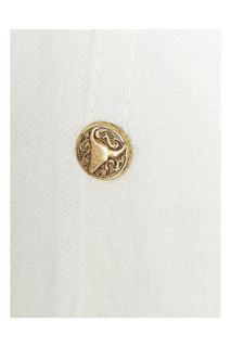 Balmain Stud embellished denim gown   80% Off