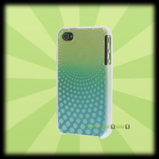iFrogz Apple iPhone 4 4S Swerve Case Lime Aqua Hard Cover Shell Green