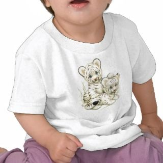 Cute White Tiger Cubs T shirt