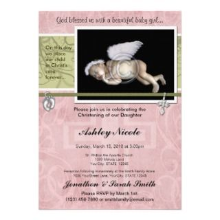 Baby Boy Baptism or Christening Invitation