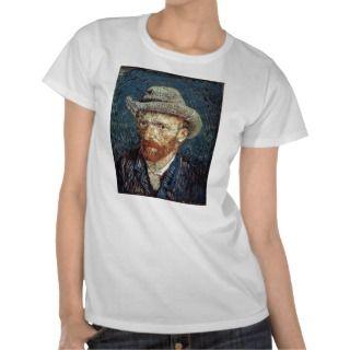 Van Gogh Self Portrait with Grey Felt Hat T shirt