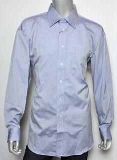 250 Ike Behar Periwinkle 100 Cotton Dress Shirt 17 5 35